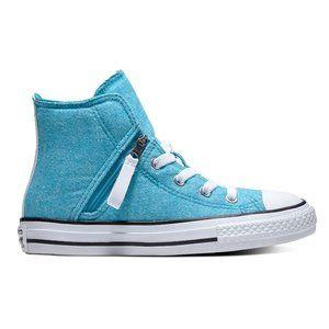 Converse Chuck Taylor Pull-Zip High Top Teal Blue